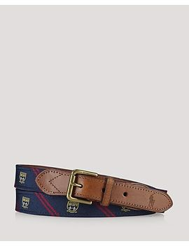 silk-trimmed-leather-belt by polo-ralph-lauren