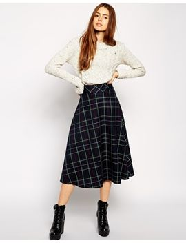 asos-midi-skirt-in-plaid--print by asos-collection