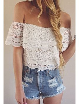 off-shoulder-top---white by lookbook-store