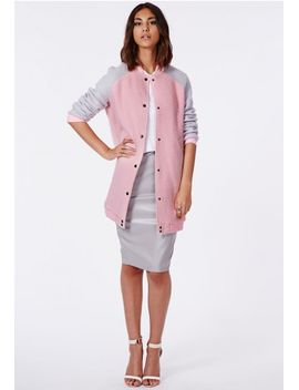 lexy-longline-wool-coat-pink by missguided