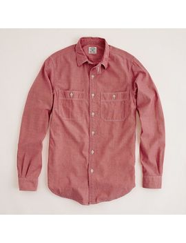 factory-red-chambray-workshirt by jcrew