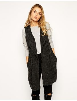 asos-drape-front-gilet-in-knit by asos-collection