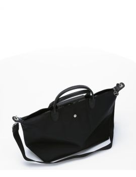 noir-leather-and-nylon-le-pliage-top-handle-tote by longchamp