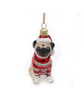 pug-with-sweater-ornament by cwonder