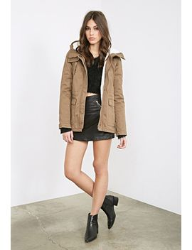 faux-shearling-hooded-parka by forever-21