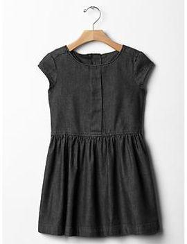 box-pleat-chambray-dress by gap