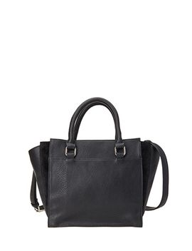 faux-leather-&-calf-hair-satchel by forever-21
