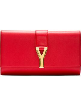 red-leather-y-clutch by saint-laurent