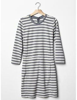 stripe-ponte-dress by gap