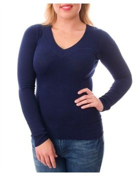 sexy-v-neck-low-cut-clevage-bodycon-stretchy-plus-size-long-sleeve-sweater-dress by ebay-seller