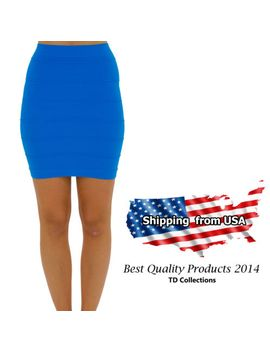 bandage-fitted-line-soft-bodycon-knitted-casual-party-pencil-mini-short-skirt by td