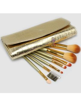 7pcs-mineral-eyeshadow-cosmetic-makeup-brush-set-tool-with-pouch-bag--golden by ebay-seller