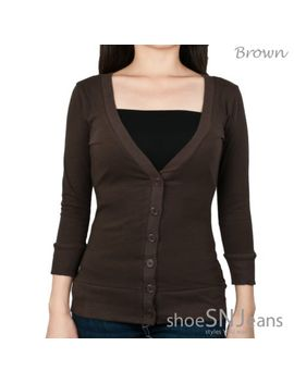 new-solid-basic-casual-cotton-ribbed-hem-button-down-top-long-sleeve-cardigan by zenana,-shasa