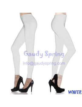 solid-full-length-seamless-stretch--footless-long-leggings-multiple-colors by gaudy-spring
