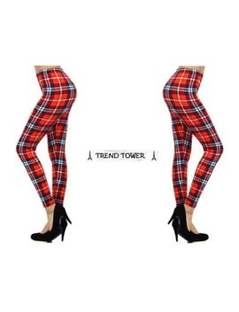new-ladies-trendy-sexy-tartan-plaid-checkered-leggings-fun-fashion-leggings by ebay-seller