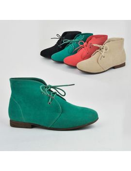 women-suede-booties-lace-up-boots-shoes-oxfords-moccasins-loafers-nature-breeze by nature-breeze