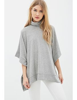 oversized-turtleneck-poncho by forever-21