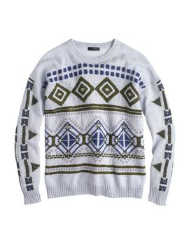 abstract-fair-isle-sweater by jcrew