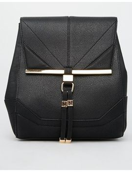 river-island-black-smart-structured-rucksack by river-island