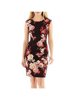 r&k-originals®-sleeveless-floral-print-scuba-dress by r&k-originals