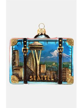 seattle-glass-suitcase-ornament by nordstrom-at-home