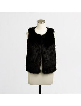 factory-faux-fur-vest by jcrew