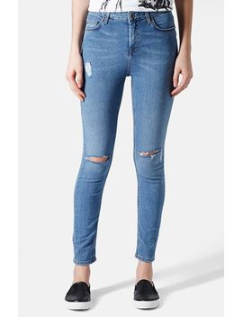 moto-jamie-ripped-high-rise-ankle-skinny-jeans by topshop