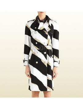 zebra-print-trench-coat by gucci