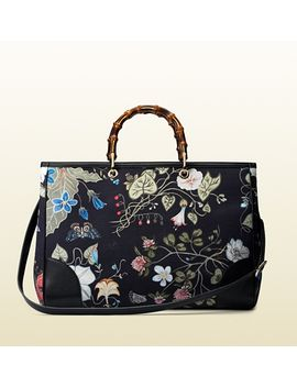 bamboo-shopper-flora-knight-canvas-tote by gucci
