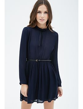 high-neck-pintucked-dress by forever-21