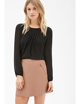 pleated-chiffon-blouse by forever-21