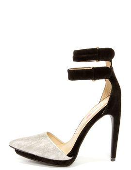 penny-loves-kenny-narly-bone-and-black-velvet-high-heels by lulus