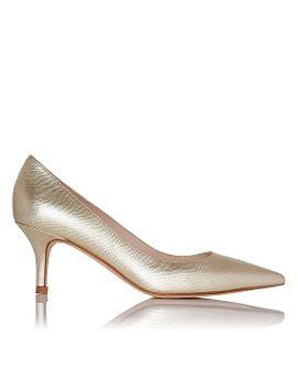 florisa-gold-metallic-leather-point-toe-heel by lkbennett
