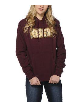 obey-drug-rug-maroon-hoodie by obey
