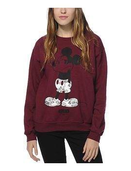 neff-x-disney-mickey-shrug-life-crew-neck-sweatshirt by neff