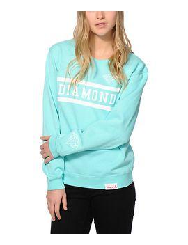 diamond-supply-co-collegiate-mint-crew-neck-sweatshirt by diamond-supply