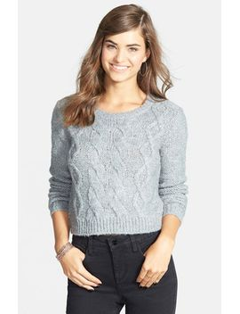 crop-cable-knit-sweater by bp