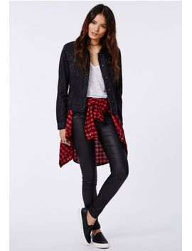 cahira-shearling-lined-denim-jacket-black by missguided