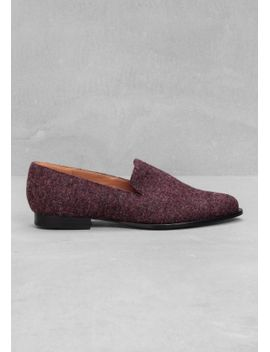 wool-effect-loafers by &-other-stories