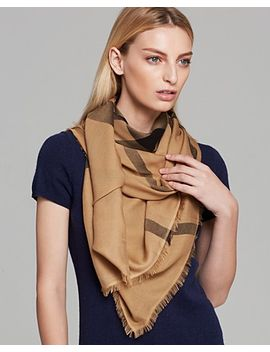 overdyed-chambray-check-square-scarf by burberry