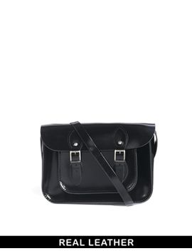 the-leather-satchel-company-patent-black-11-satchel by the-leather-satchel-co