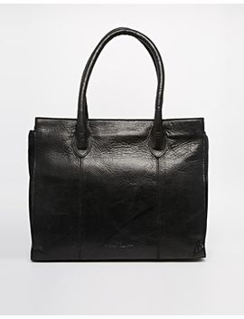 urbancode-leather-black-double-zip-work-tote-bag by urbancode
