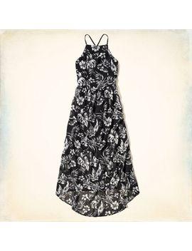 bluffs-beach-chiffon-midi-dress by hollister