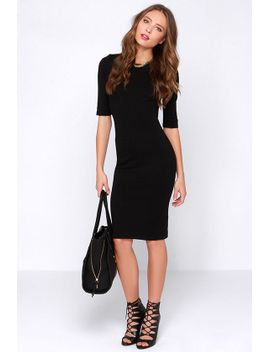party-of-my-own-black-bodycon-dress by lulus