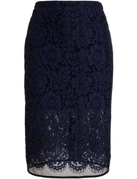 floral-lace-pencil-skirt by msgm