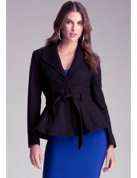 vivian-wool-peplum-jacket by bebe