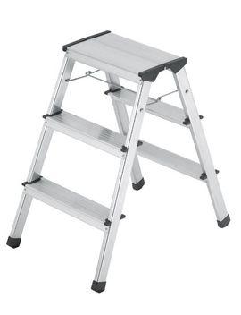 hailo-8643-001-stepke-model-330-pound-capacity-aluminum-step-stool,-3-step by hailo