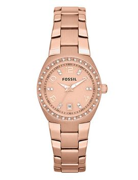 womens-rose-gold-tone-stainless-steel-bracelet-watch-28mm-am4508 by fossil
