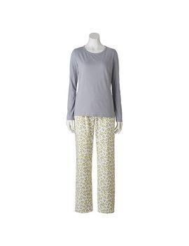 sonoma-life-+-style®-pajamas:-microfleece-pajama-gift-set---womens by kohls