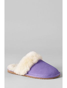 womens-shearling-scuff-slippers by lands-end